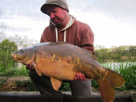 24lb 15oz mirror from bottom lake PB for Paul Mallett