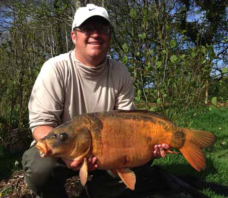 Andy Nicholls with a Steve Renyard baits caught fish