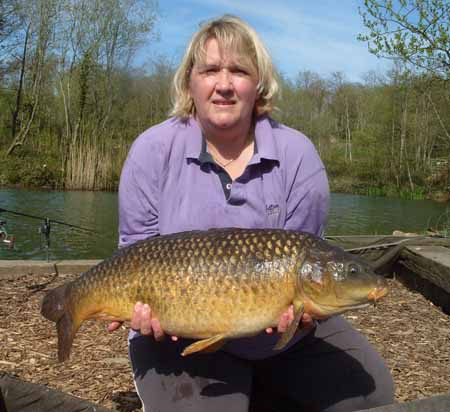 Jayne Owen with an Emperor common
